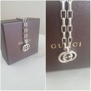 AUTHENTIC GUCCI GG SS 925 NECKLACE
